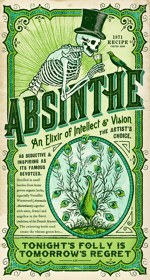 Velcrosuit Absinthe art print