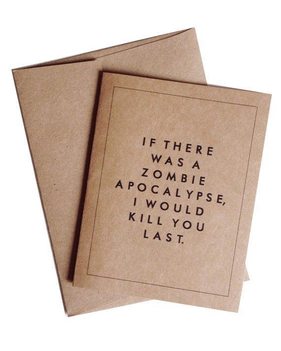 Zombie Apocalypse Valentine's card