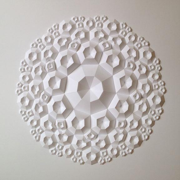 Matthew Shlian enneagon Paper sculptures
