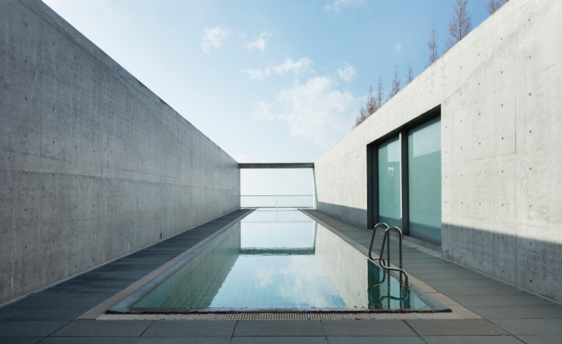 Minimalist hotel by tadao ando setaprint an archive for for Minimalist japanese lifestyle
