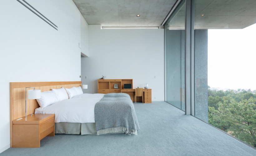 Minimalist hotel by tadao ando setaprint an archive for for Minimalist hotel design
