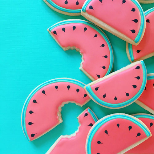 Watermelon cookies by Holly Fox