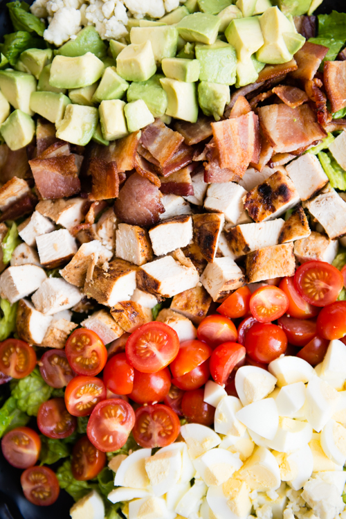 Grilled Chicken Cobb Salad closeup