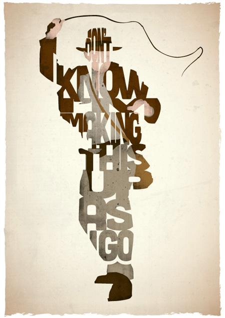 indiana jones typographic movie posters