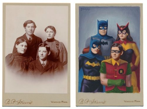 vintage superheroes drawing photos alex-gross