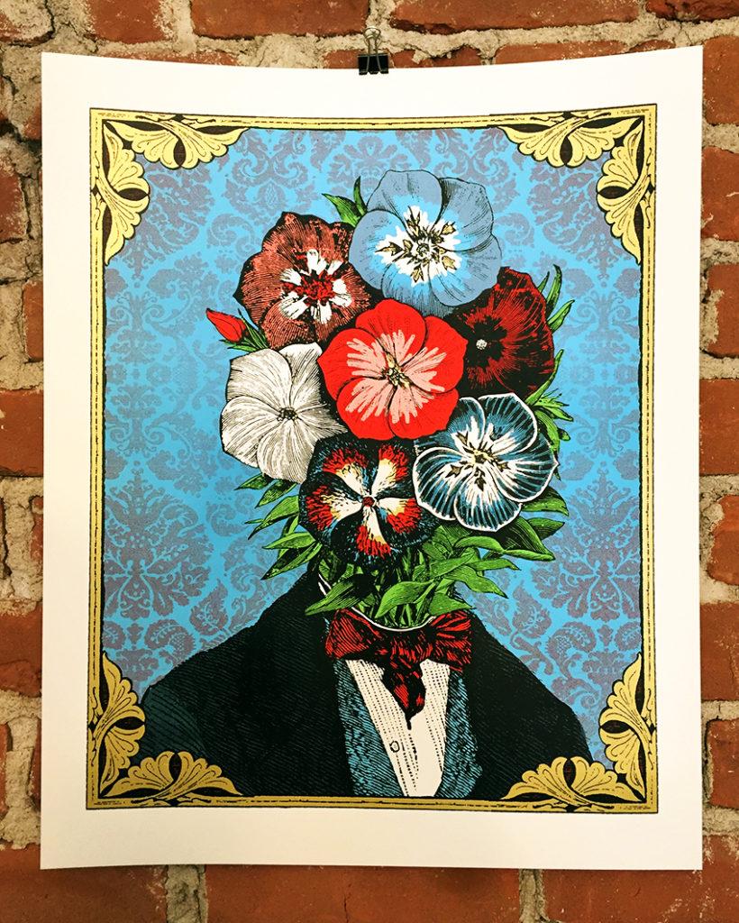 flowerhead Frederick Phlox, art print by Nate Duval