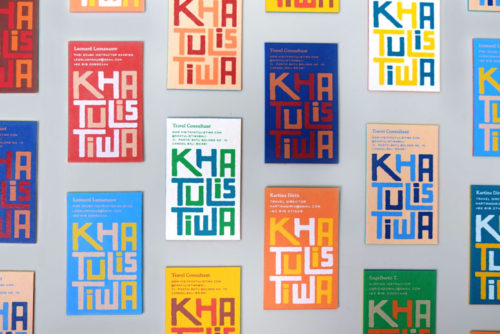 Khatulistiwa colorful business cards, colorful cards, screen-printed cards
