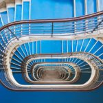 Perfectly photographed Art Deco staircases