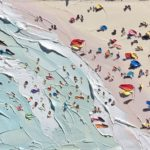 Beach paintings by Sally West
