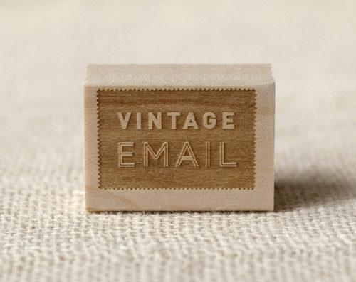 Vintage Email stamp