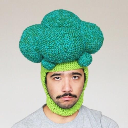 Phil Ferguson, crocheted food hats, broccoli