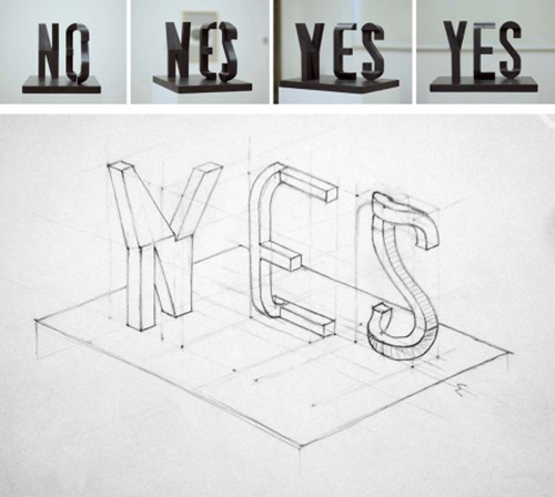 YES/NO sculpture1