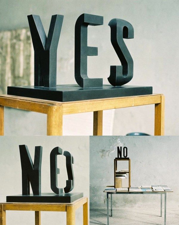 YES/NO sculpture2