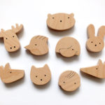Wooden fridge magnets