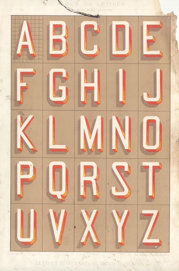 Album du peintre en batîment - painted letters2 vintage