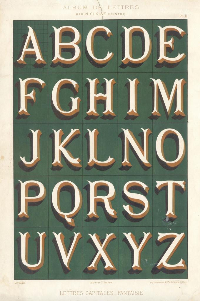 Album du peintre en batîment - painted letters3 vintage