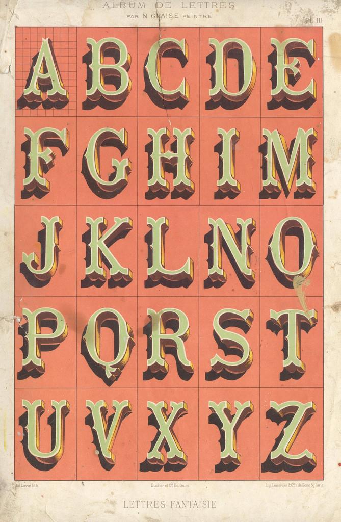Album du peintre en batîment - painted letters4 vintage