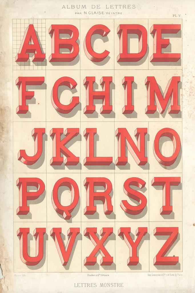 Album du peintre en batîment - painted letters1 vintage