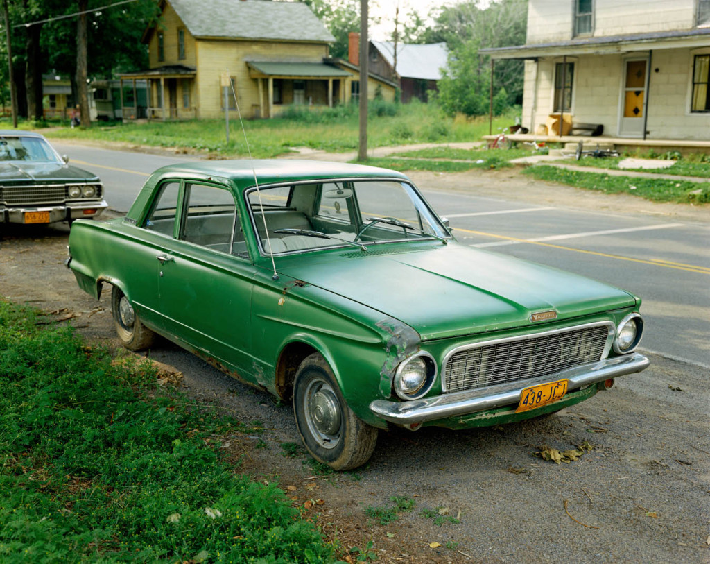 Stephen Shore, green car, retro photography, United States