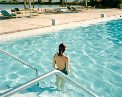 Stephen Shore, swimming pool, hotel, retro photography, United States