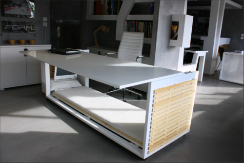 Studio NL Desk Convertible to bed2