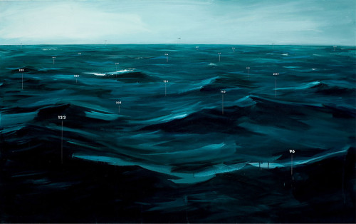 oliver jeffers, Measuring Land and Sea, fathom painting