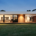 A wood and glass house in Australia