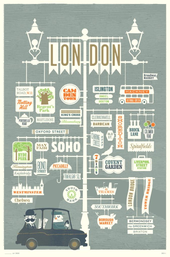 Jim Datz, London City Print, Illustration