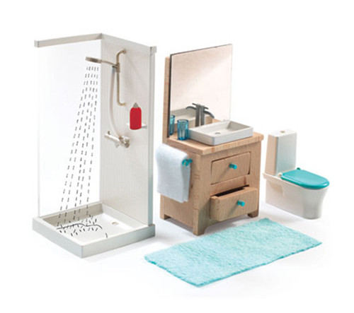 bathroom, doll-house Djeco
