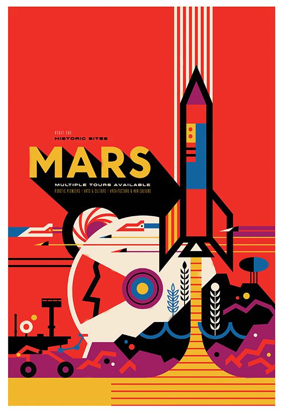 nasa Mars print