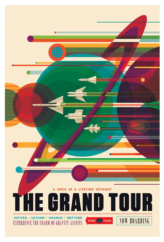 nasa grand tour print