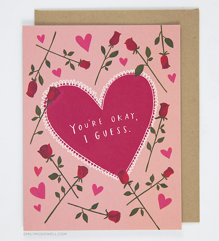 You're okay I guess card by Emily McDowell
