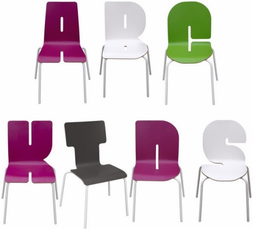 A to Z - Tabisso Typographia kids chairs