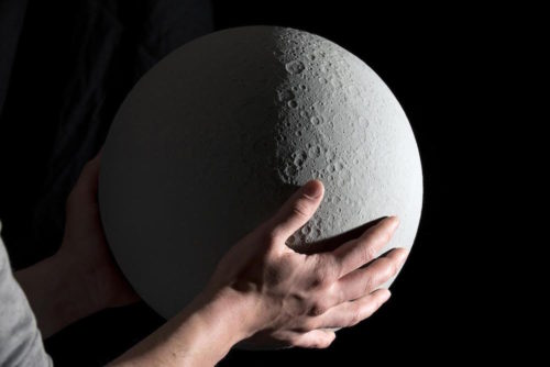 MOON - a topographically accurate lunar globe 3