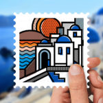 Stamp collection: Destination Greece