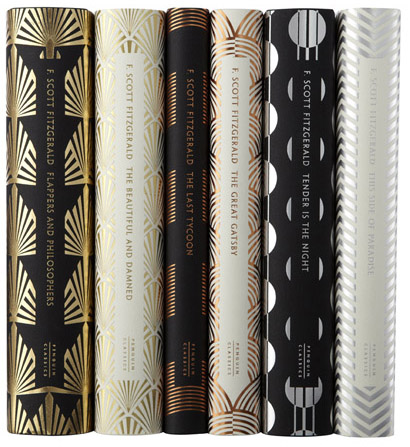 F. Scott Fitzgerald spines by Coralie Bickford-Smith