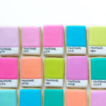 Colorful Pantone cookies by a graphic designer