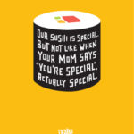 Sushi posters for the Eatery