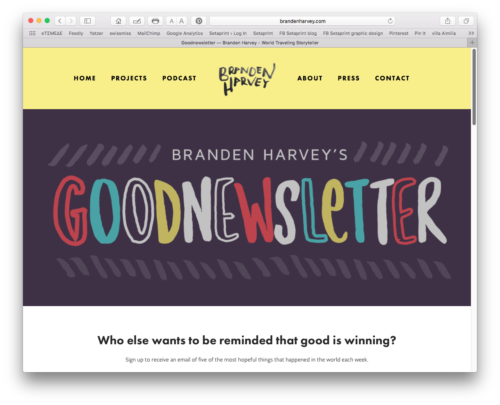 Branden Harvey's Goodnewsletter