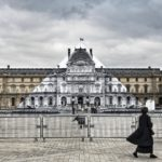 A transforming installation on the Louvre Pyramid by artist JR