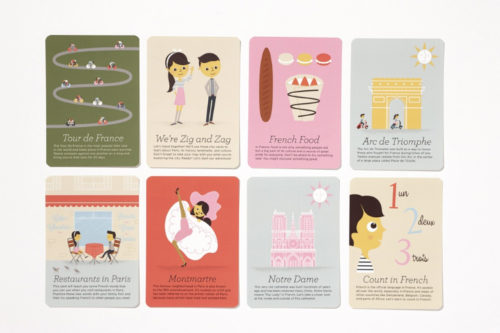 ZigZag Paris city guide cards