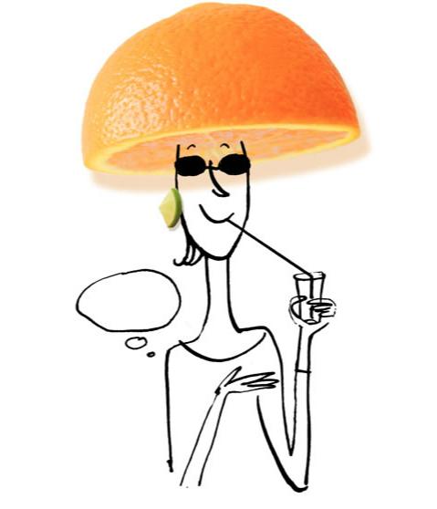 serge bloch orange lady