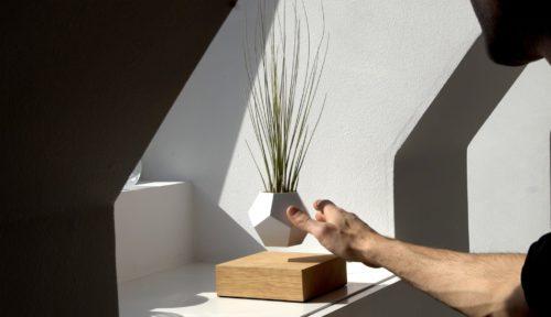 Lyfe, gravitating, magnetic planter,