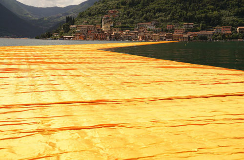christo floating piers fabric