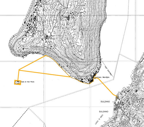 christo floating piers map