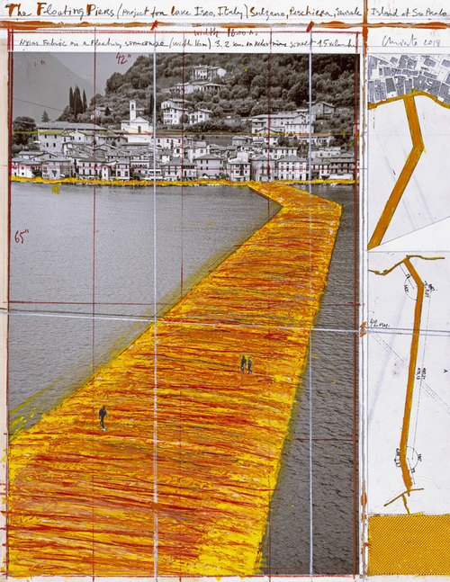 christo floating piers preparation sketches