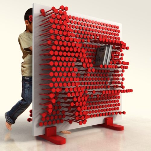 pin press shelf red by ooomydesign
