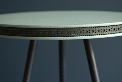 Brogue side table jade on teal Bethan Gray