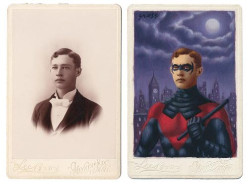 vintage superheroes drawing photos alex gross