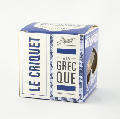criquet a la grecque, Jimini's, edible insect snacks
